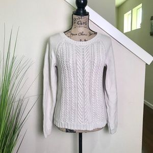 J. Crew Cable knit sweater, heavy weight, cotton